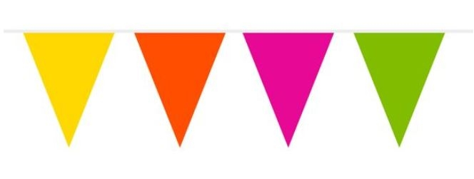 Vlaggenlijn Vrolijke kleuren 10m BRANDVERTRAGEND