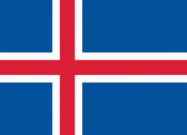 Vlag IJsland 100x150cm Glanspoly