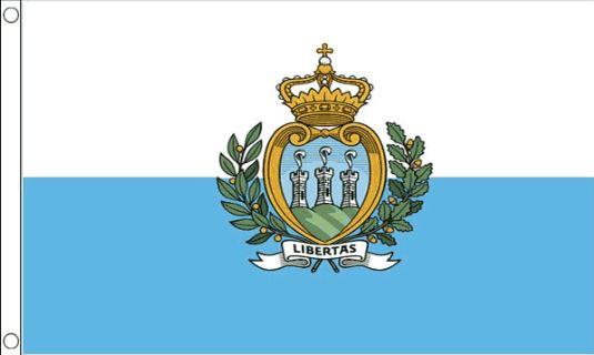 Vlag San Marino, San Marinese vlaggen met wapen 90x150cm Best Value