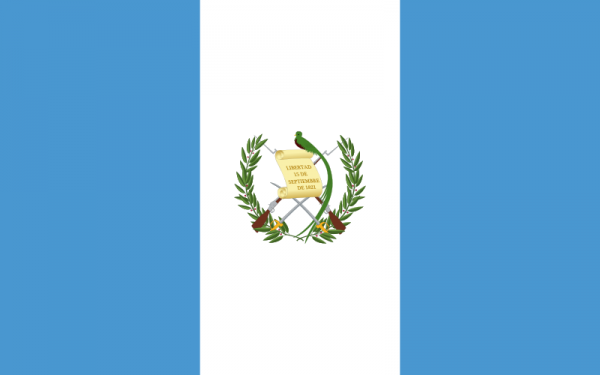 Vlag Guatemala 100x150cm Glanspoly
