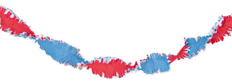 Draaiguirlande Holland slinger Rood-Wit-Blauw 24m brandvertragend
