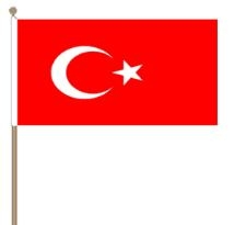 Zwaaivlag Turkije 30x45cm