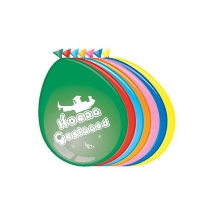 8 ballonnen Hoera Geslaagd square academic cap