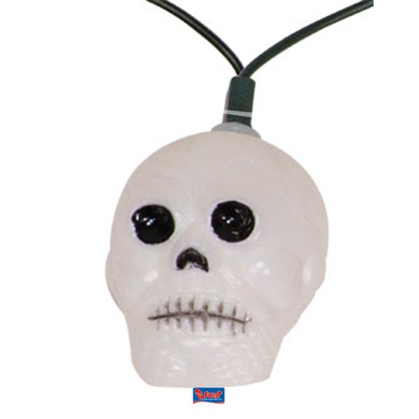 Skull Halloween verlichting schedels 10 lampjes