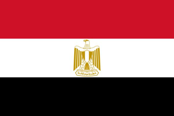 Tafelvlag Egypte 10x15cm | Egyptische tafelvlag