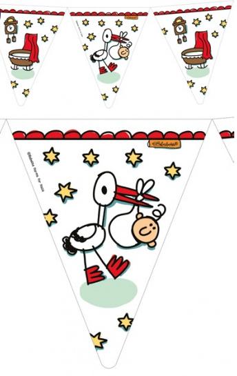 geboorte vlaggenlijn jongen meisje 6 meter