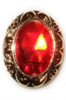 Gouden ring van Sinterklaas met rode edelsteen