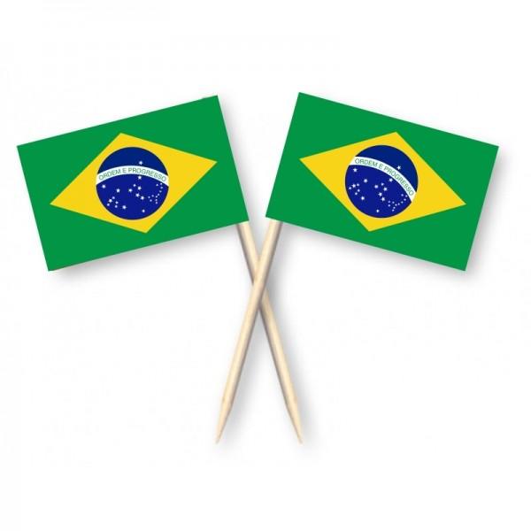 Cocktailprikkers Brazilië 50 stuks