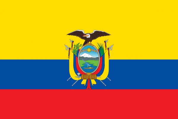 Vlag Ecuador 100x150cm Glanspoly