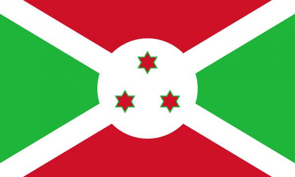 Vlag Burundi 100x150cm Glanspoly