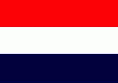 Oud Hollandse vlag Sloepenvlag 30x45cm Marine blauw