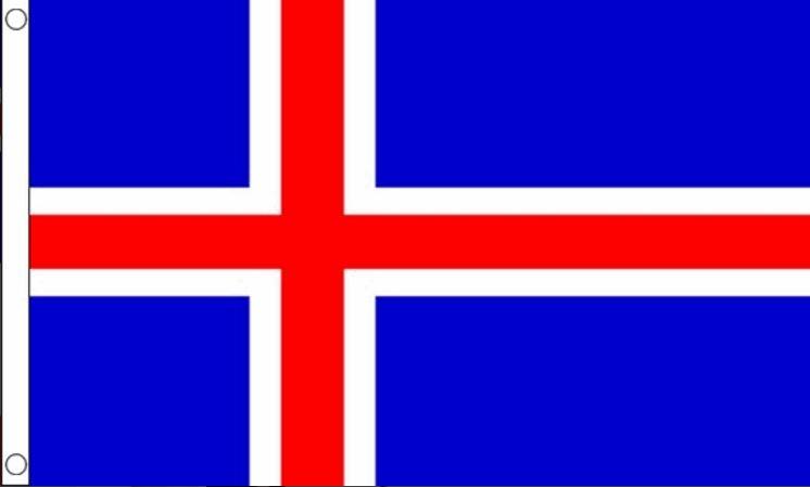 vlag ijsland 150 x 240 cm kopen bij vlaggenclub!