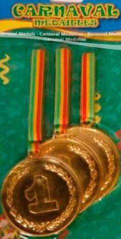 Carnaval medaille Limburg rood/geel/groen