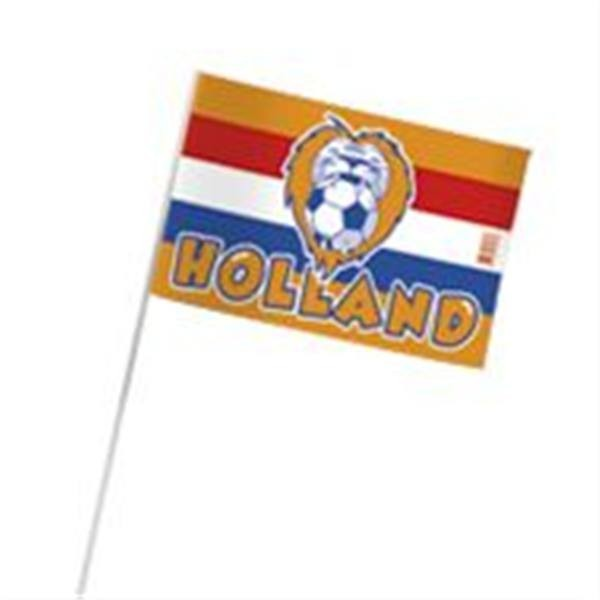 Oranje zwaaivlaggen met Leeuw RWB 20x30cm (10 stuks)