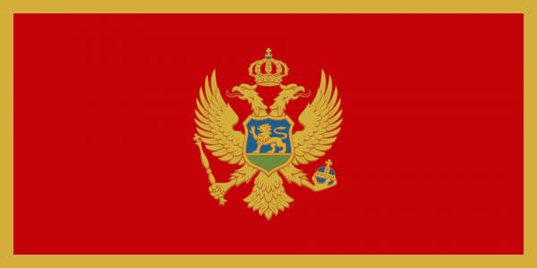 Vlag Montenegro 100x150cm Glanspoly