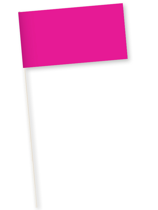fuchsia zwaaivlaggetjes papier 11x21cm 10 stuks