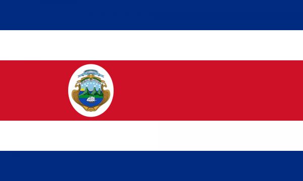 Tafelvlaggen Costa Rica 10x15cm | Costa Rica tafelvlag