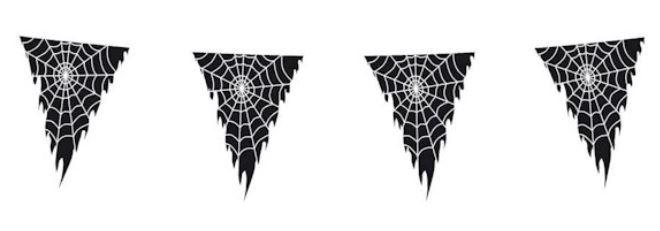 Vlaggenlijn-spinnenweb-op-transparante-meer-wimpel