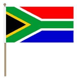 Zwaaivlag Zuid-Afrika, Zuid-Afrikaanse zwaaivlag 30x45cm, stoklengte 60cm