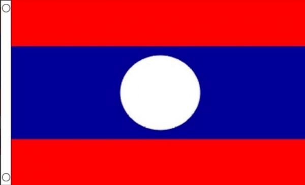 Laos vlag   Laotiaanse vlaggen 90x150cm Best Value