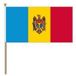 Zwaaivlag Moldavië Moldavische zwaaivlag 30x45cm, stoklengte 60cm