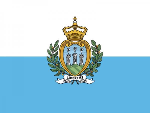 Tafelvlaggen San Marino 10x15cm   San Marinese tafelvlag