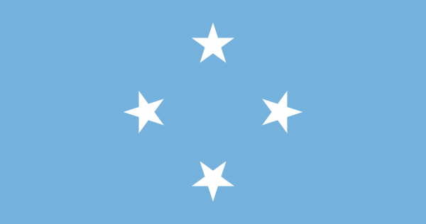 Vlag Micronesia 100x150cm Glanspoly