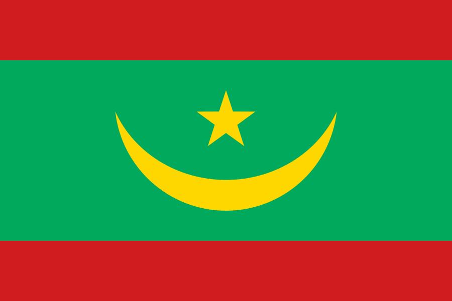 Tafelvlaggen Mauritanië | Mauritaans tafel vlaggetje 10x15cm kopen bij Vlaggenclub