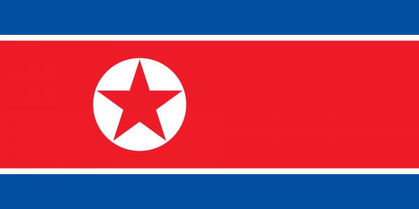 Vlag Noord-Korea 100x150cm Glanspoly