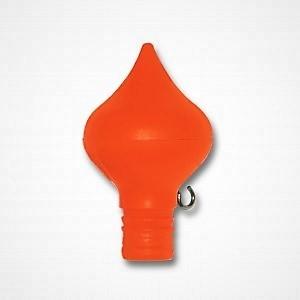 Oranje knop vlaggenstok peer vorm, ui vorm