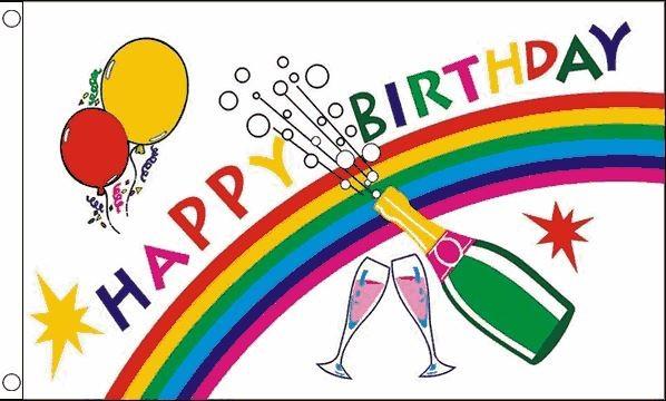 Vlag Happy Birthday 90x150cm