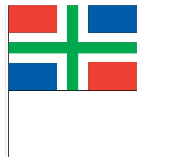 Zwaaivlag Groningen op houten stok kopen bij Vlaggenclub