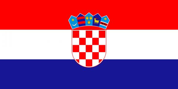 Vlag Kroatie 100x150cm Glanspoly