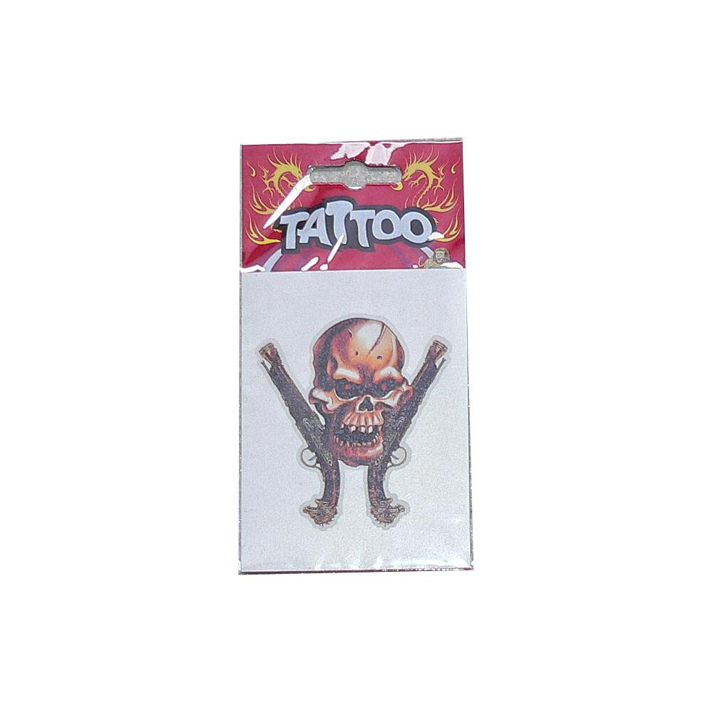 tattoo Pirate skull pistols