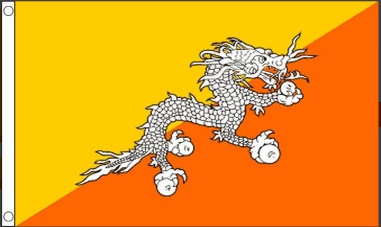 Bhutaanse vlag vlaggen Bhutan 90x150cm Best Value
