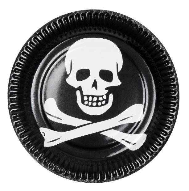 borden piraat 6 stuks wegwerp van karton
