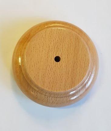 Loss houten luxe voet 7,4cm