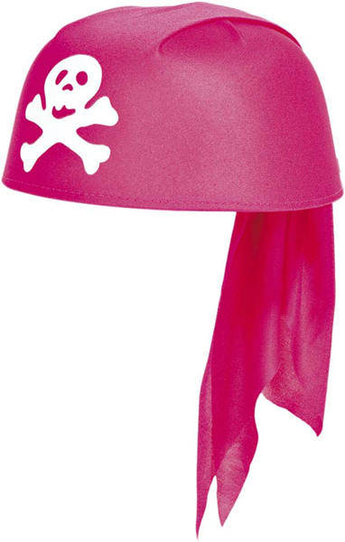 Piratencap roze Pirate girl cap
