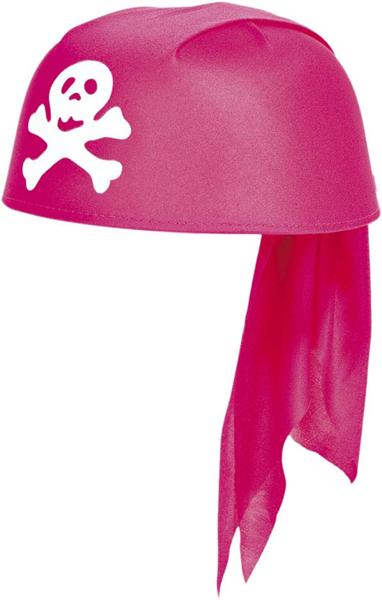 Piratencap roze Pirate girl cap