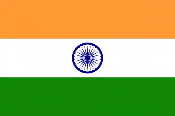 Vlag India 100x150cm Glanspoly