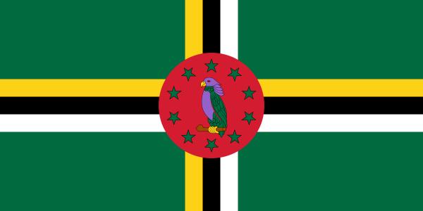 Tafelvlagggen Dominica 10x15cm | Dominicaanse tafelvlag