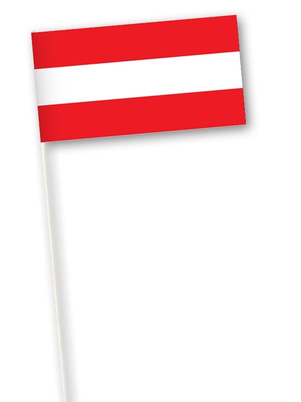 Oostenrijkse zwaaivlag | zwaaivlaggetje Oostenrijk 11x21cm