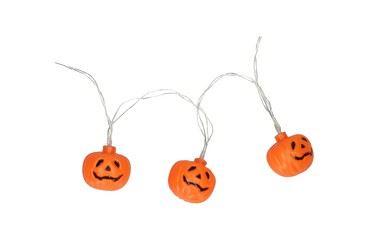 Halloween pompoen led lichtsnoer 10 stuks