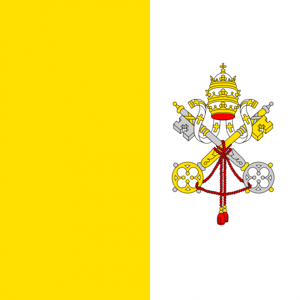 Vlag Vaticaanstad 100x150cm Glanspoly