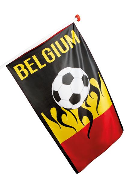 Vlag Belgie WK Voetbal 90x150cm