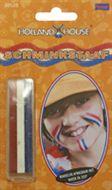 Schmink staaf rood wit blauw voor de Nederlandse vlag