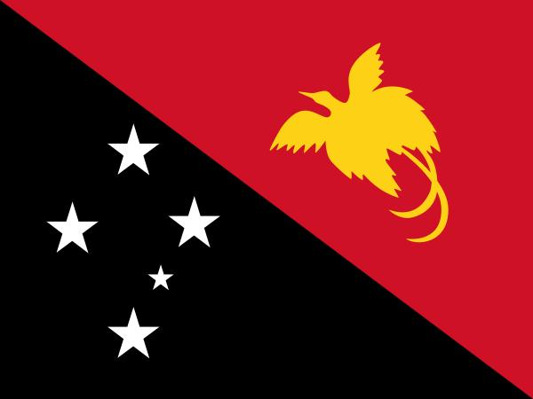 tafelvlaggen Papoea-Nieuw-Guinea 10x15cm | Papoea-Nieuw-Guinea tafelvlag