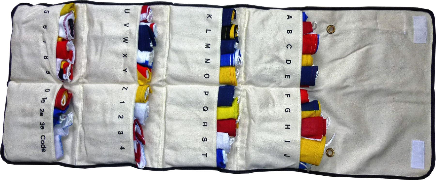 Signaalvlaggen 40 stuks seinvlaggen 20x24cm (excl. tas)