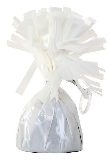 Ballonnen gewichtje wit, 140g, 6cm doorsnede