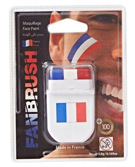 Schmink block Nederlandse vlag rood/wit/blauw